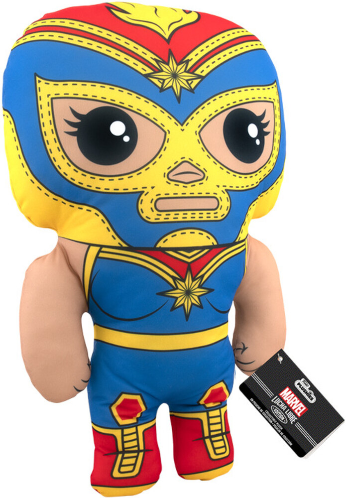 Funko Pop! Plush: - FUNKO POP! PLUSH: Marvel Luchadores- Captain Marvel 17.5