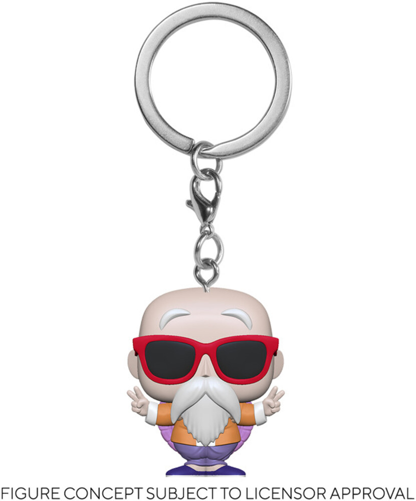 - FUNKO POP! KEYCHAIN: Dragon Ball Z- Master Roshi (Peace Sign)