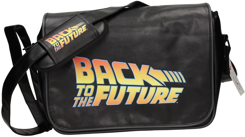 - Back To The Future Logo Canvas Mailbag (Blk)
