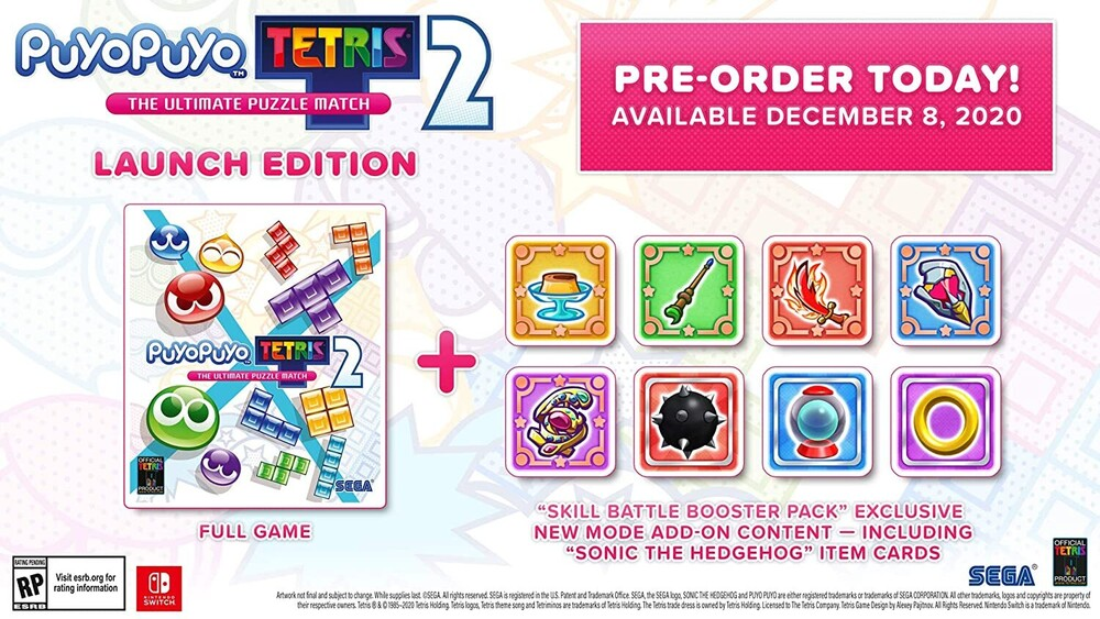 Swi Puyo Puyo Tetris 2 - Puyo Puyo Tetris 2 for Nintendo Switch