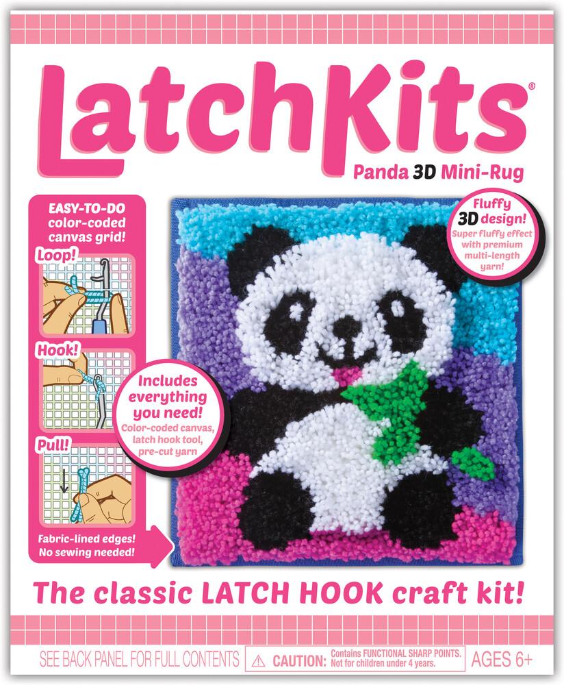Latchkits Panda 3-D Mini Rug Latch Hook Craft Kit - Latchkits Panda 3-D Mini Rug The Classic Latch Hook Craft Kit!