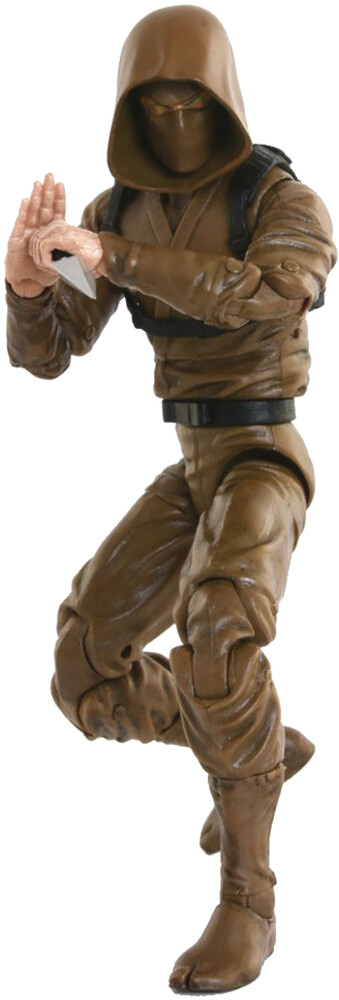 Fwoosh - FWOOSH - Articulated Icons Basic Ninja Brown 6 Action Figure (Net)