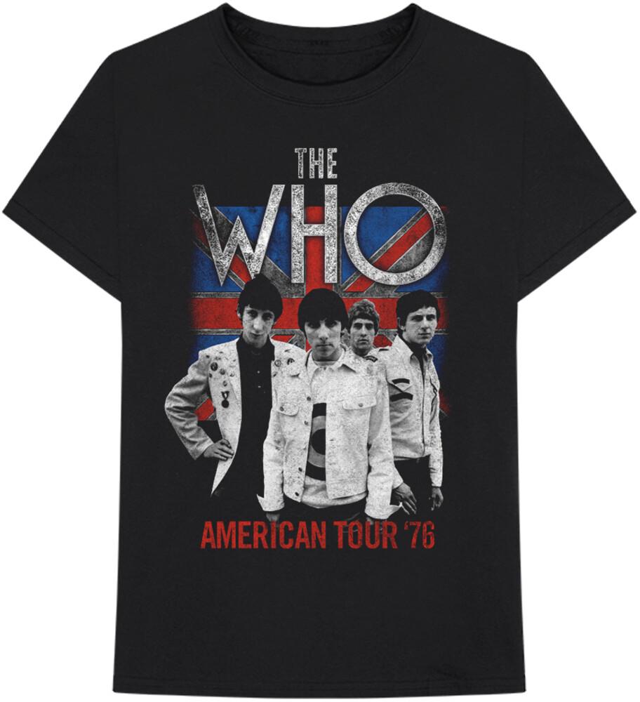 - Who Flag American Tour 76 Black Ss Tee L (Blk)