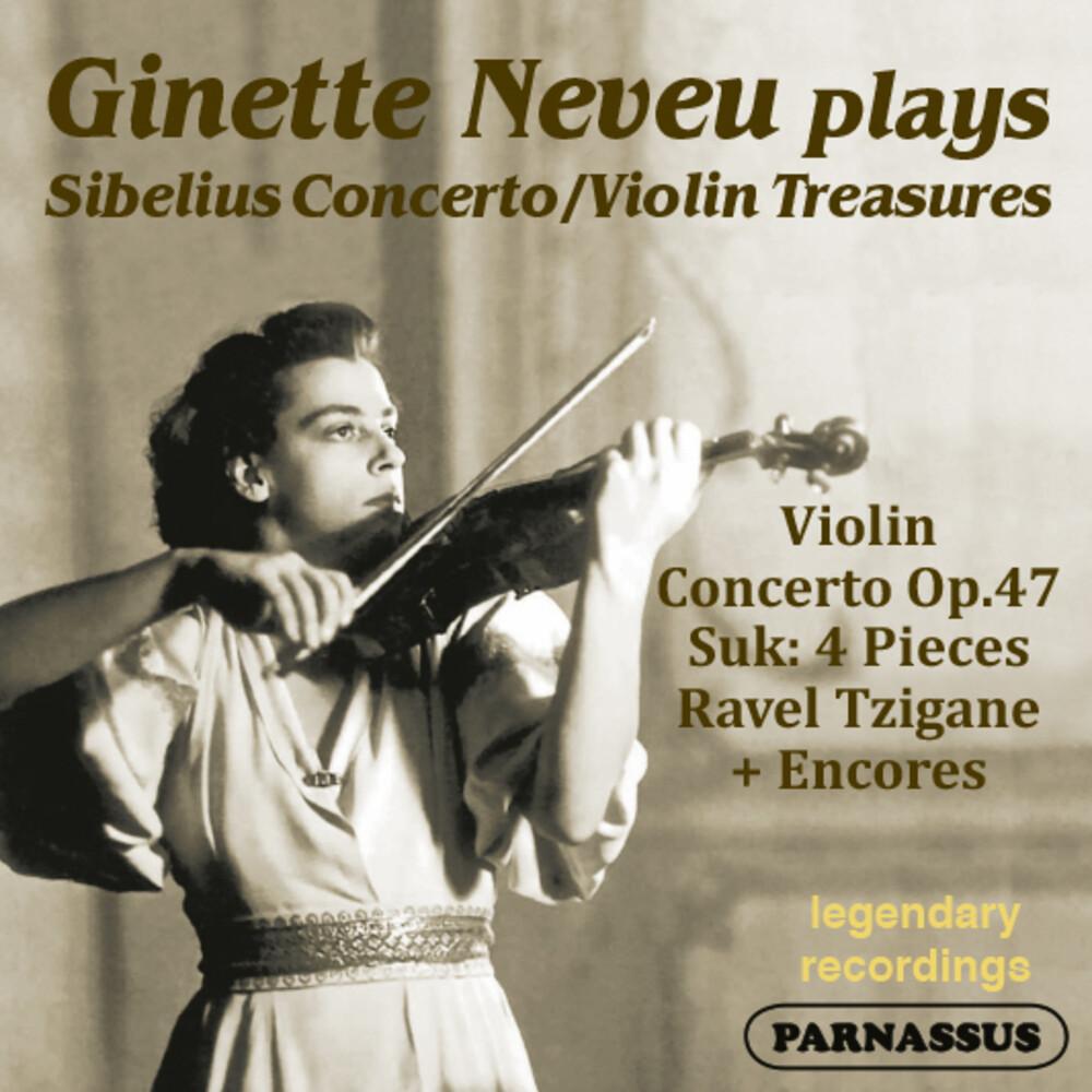 GINETTE NEVEU - Sibelius Violin Concerto Suk 4 Pieces & Encores