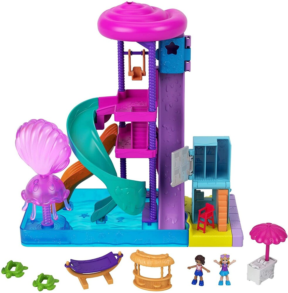 - Mattel - Polly Pocket Pollyville  Super Slidin' Water Park