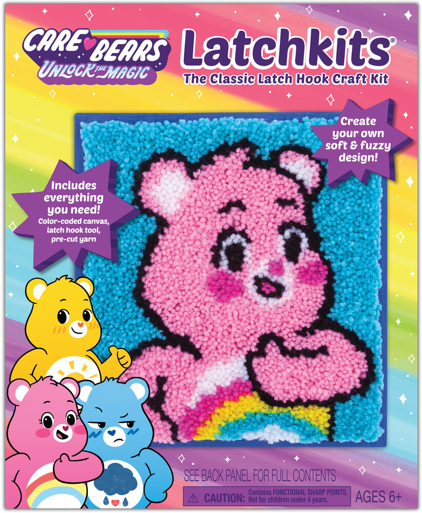 Latchkits Care Bears Classic Latch Hook Craft Kit! - Latchkits Care Bears Unlock The Magic The Classic Latch Hook CraftKit!