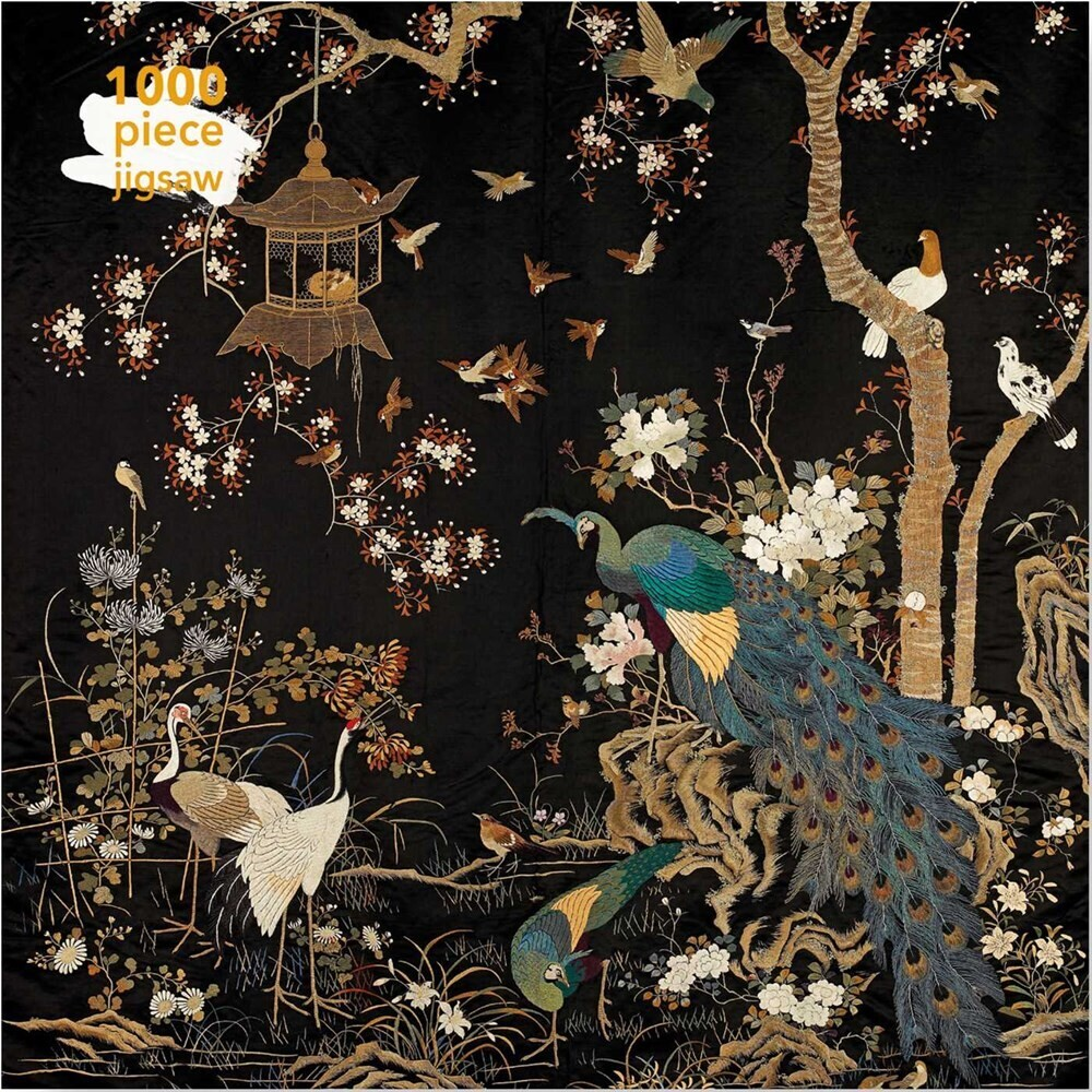 Flame Tree Studio - Adult Jigsaw Puzzle Ashmolean Museum: Embroidered Hanging withPeacock: 1000-piece Jigsaw Puzzle