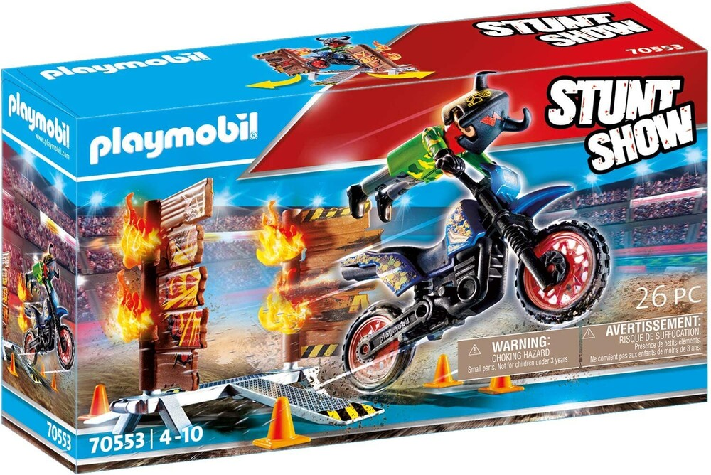 - Stunt Show Motocross With Fiery Wall (Fig)