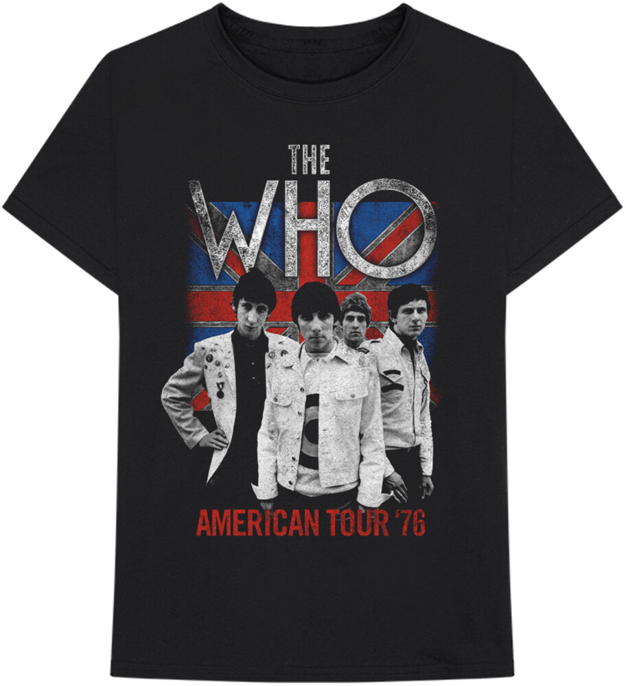 The Who - Who Flag American Tour 76 Black Ss Tee Xl (Blk)