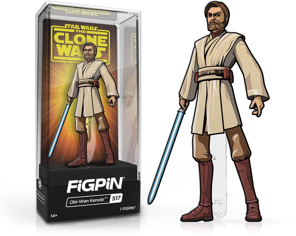 Figpin Star Wars Clone Wars Obi-Wan Kenobi #517 - Figpin Star Wars Clone Wars Obi-Wan Kenobi #517