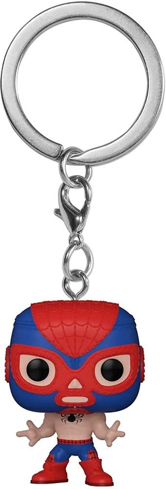 - FUNKO POP! KEYCHAIN: Marvel Luchadores- Spider-Man