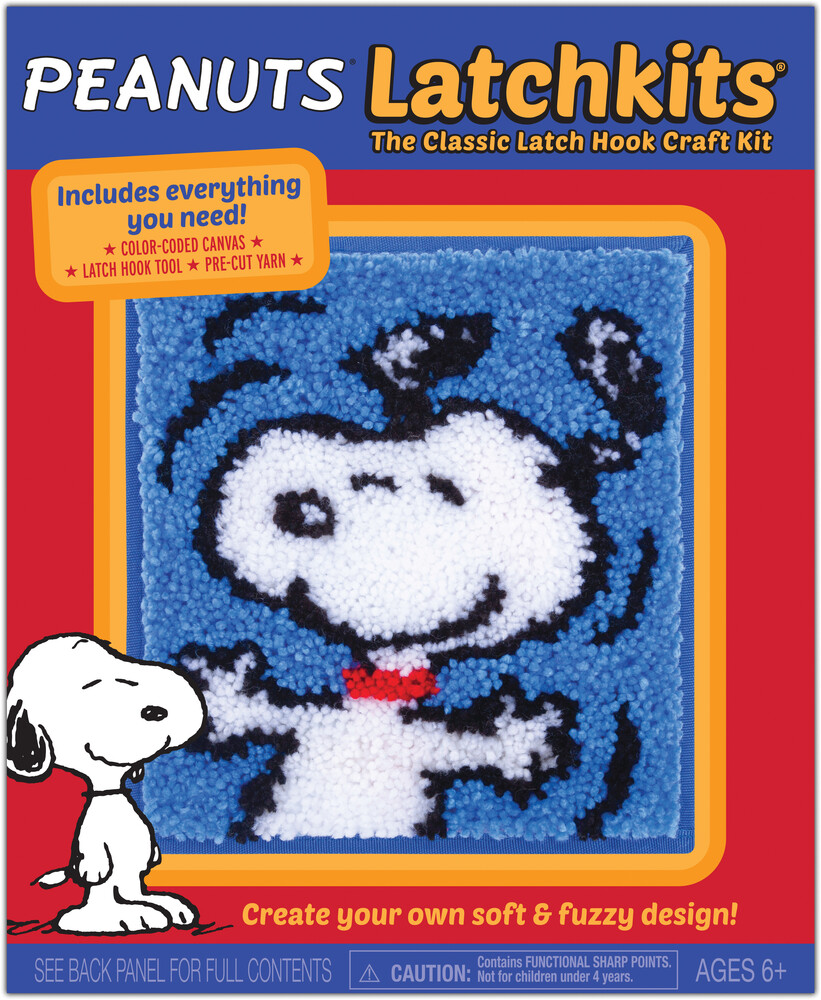 Latchkits Peanuts Classic Latch Hook Craft Kit - Latchkits Peanuts Snoopy The Classic Latch Hook Craft Kit!