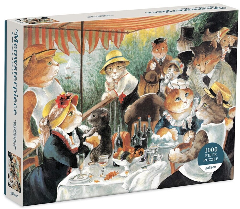 - Luncheon of the Boating Party Meowsterpiece of Western Art 1000 Piece Puzzle