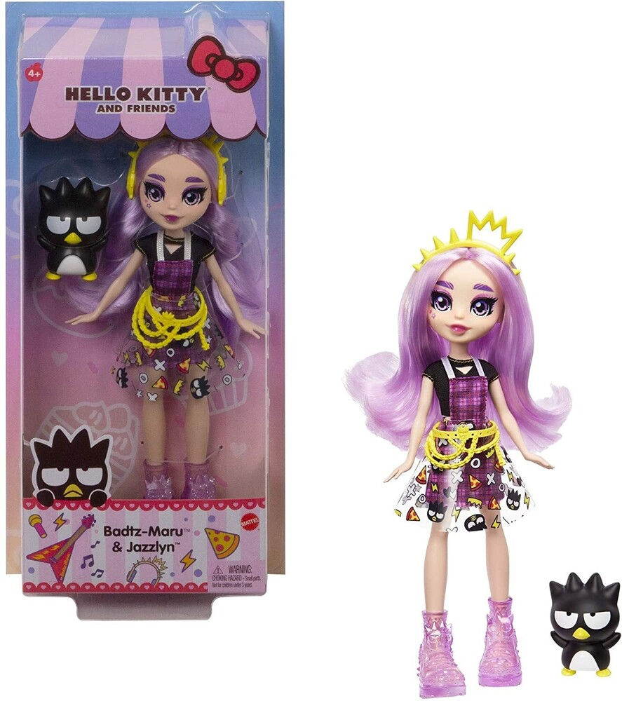 - Mattel - Hello Kitty and Friends Badtz-Maru Figure & Jazzlyn Doll (Sanrio)