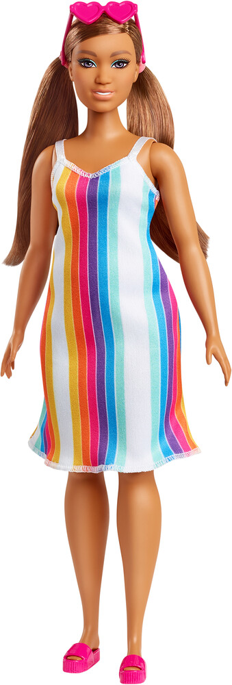 - Mattel - Barbie Loves the Ocean, Rainbow Stripe Dress