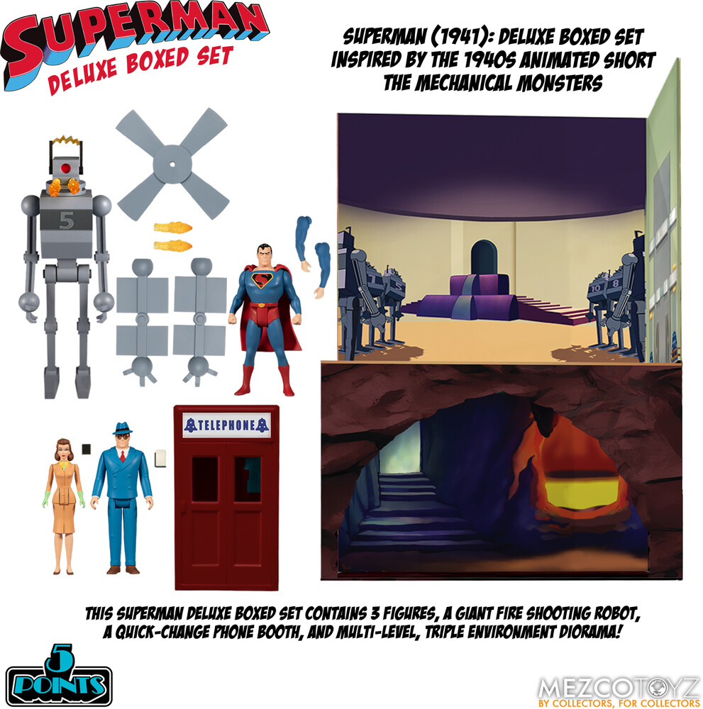 5 Points Superman - Mechanical Monsters (1941) Set - 5 Points Superman - Mechanical Monsters (1941) Set