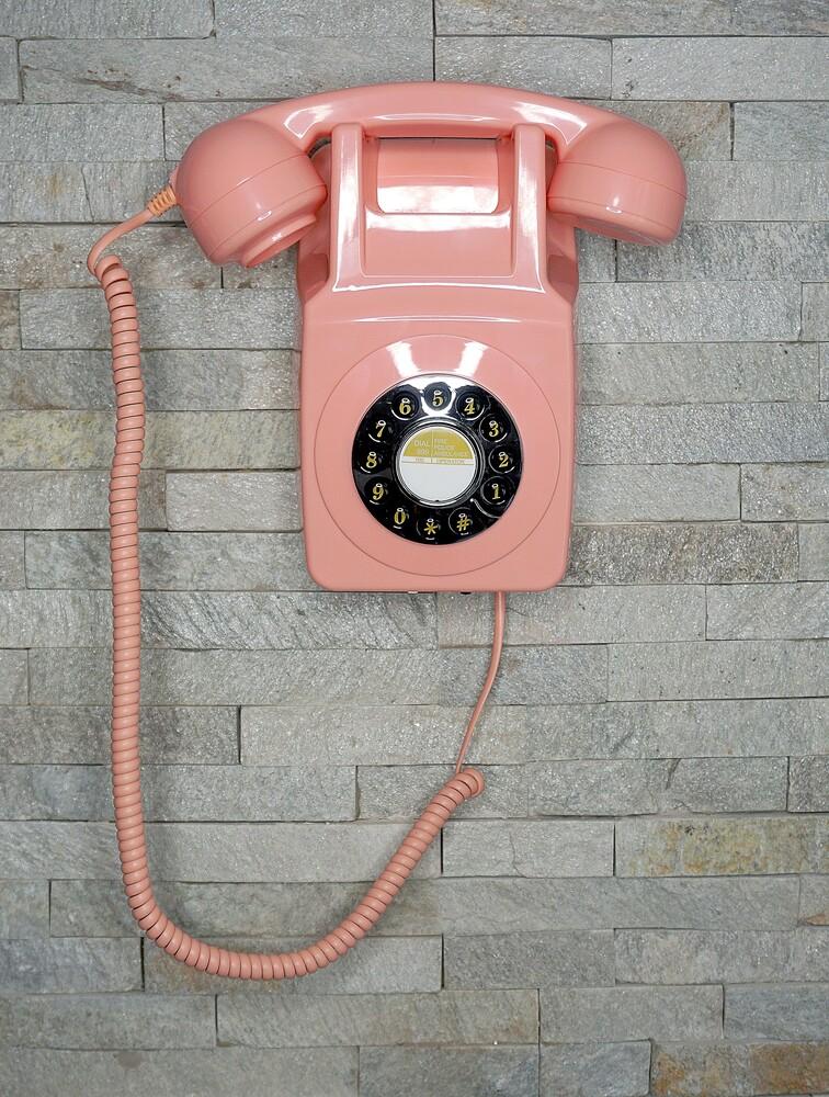 - Gpo 746 Retro Wall Telephone Push Button Dail Pink