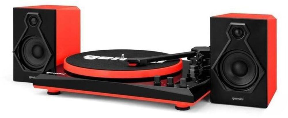 - Gemini Tt-900br Tt Music System Bt W/Speakers Red