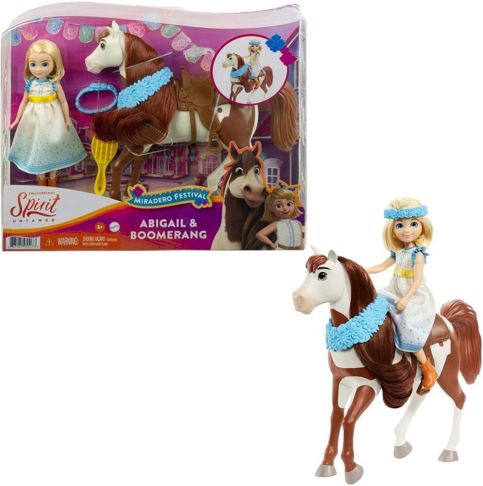 Spirit - Mattel - Spirit Festival Doll & Horse Abigail and Boomerang