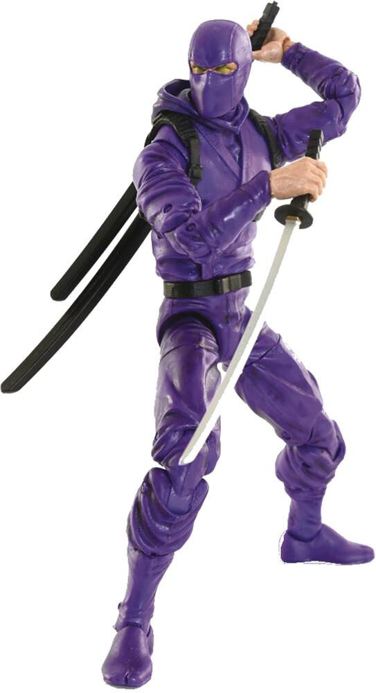 Fwoosh - FWOOSH - Articulated Icons Basic Ninja Purple 6 Action Figure (Net)