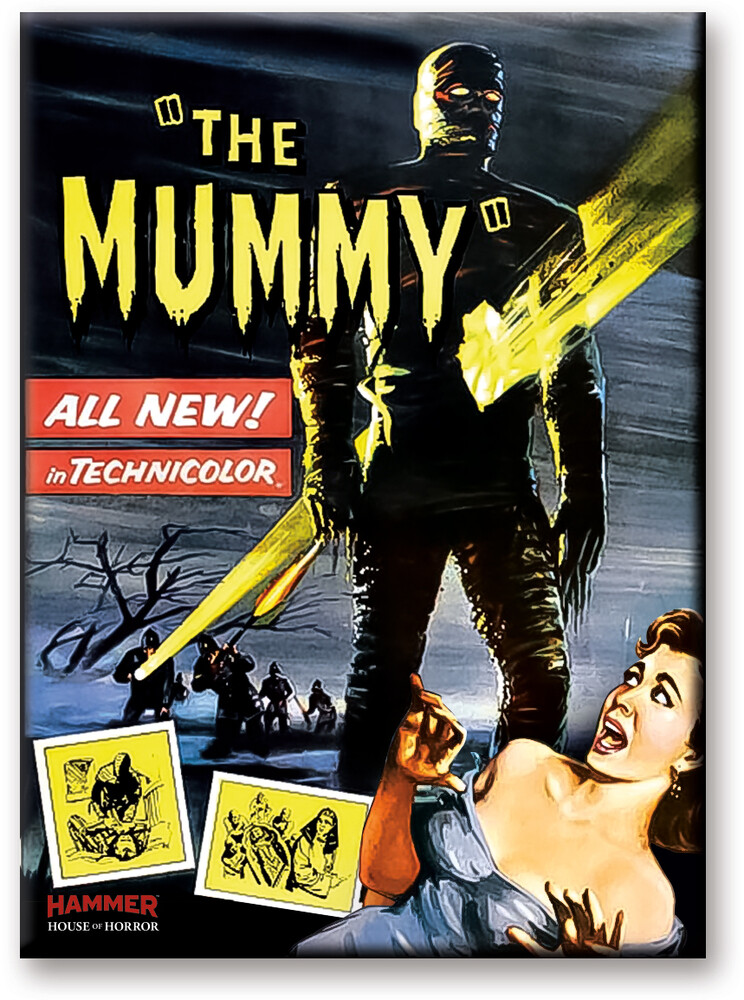 Hammer Mummy Girl 2.5 X 3.5 Flat Magnet - Hammer The Mummy Girl 2.5 x 3.5 Flat Magnet