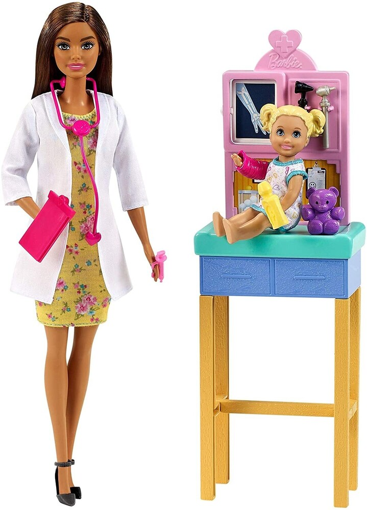 - Mattel - Barbie Pediatrician Playset, Brunette
