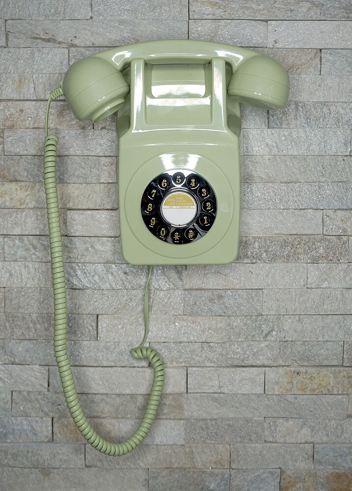 - Gpo 746 Retro Wall Telephone Push Button Dial Grn