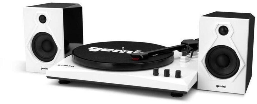 Gemini Tt-900Bw Tt Music System Bt W/Speakers Wht - Gemini Tt-900bw Tt Music System Bt W/Speakers Wht