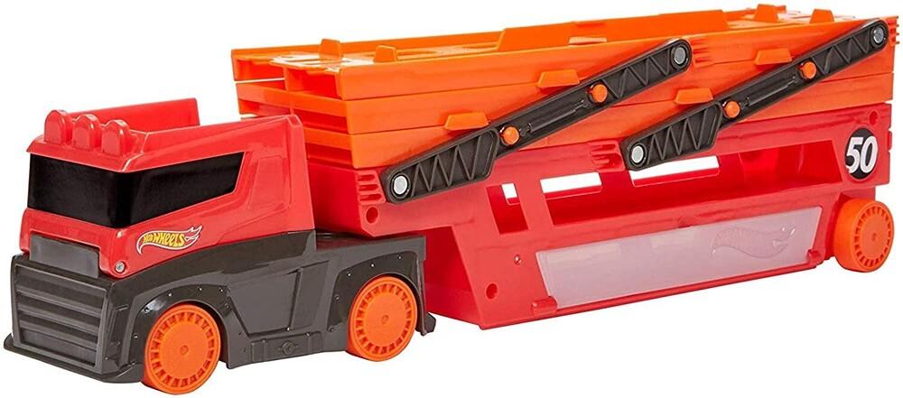 Hot Wheels - Mattel - Hot Wheels Mega Red Hauler