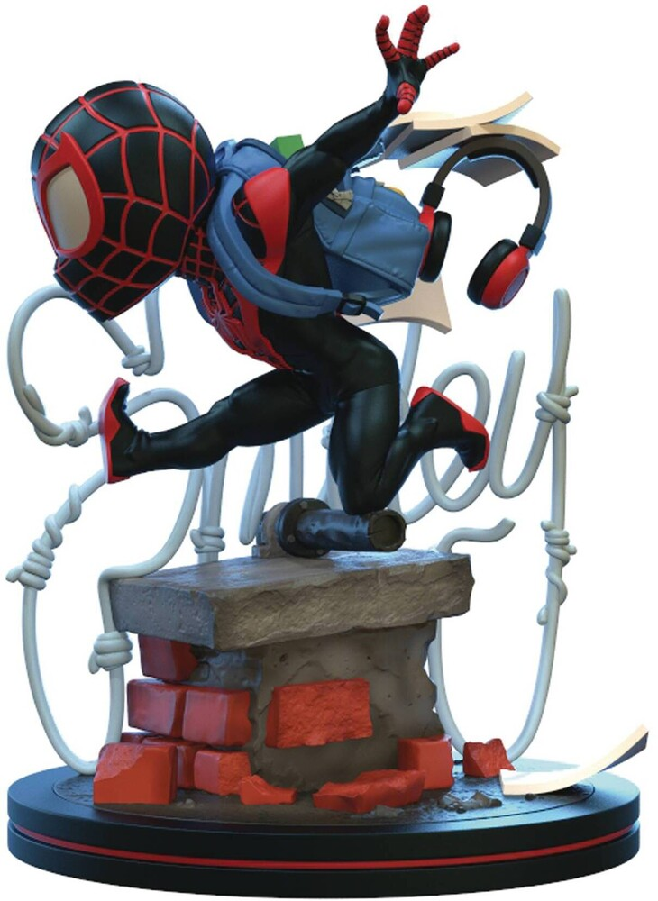 - Quantum Mechanix QMx - Spider-Man: Miles Morales Q-Fig Elite Diorama