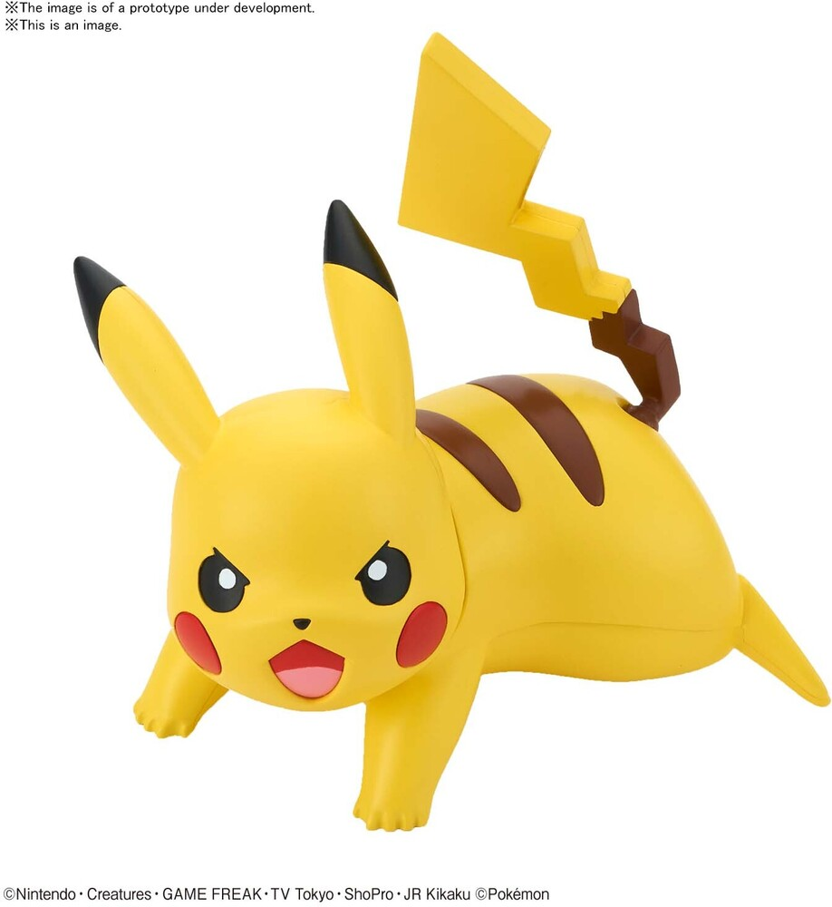 Bandai Hobby - Bandai Hobby - Pokemon - 03 Pikachu (Battle Pose), Bandai Spirits Pokemon Model Kit Qucik!!