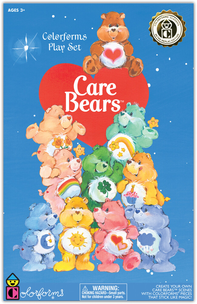 Colorforms Care Bears Retro Play Set - Colorforms Care Bears Retro Play Set