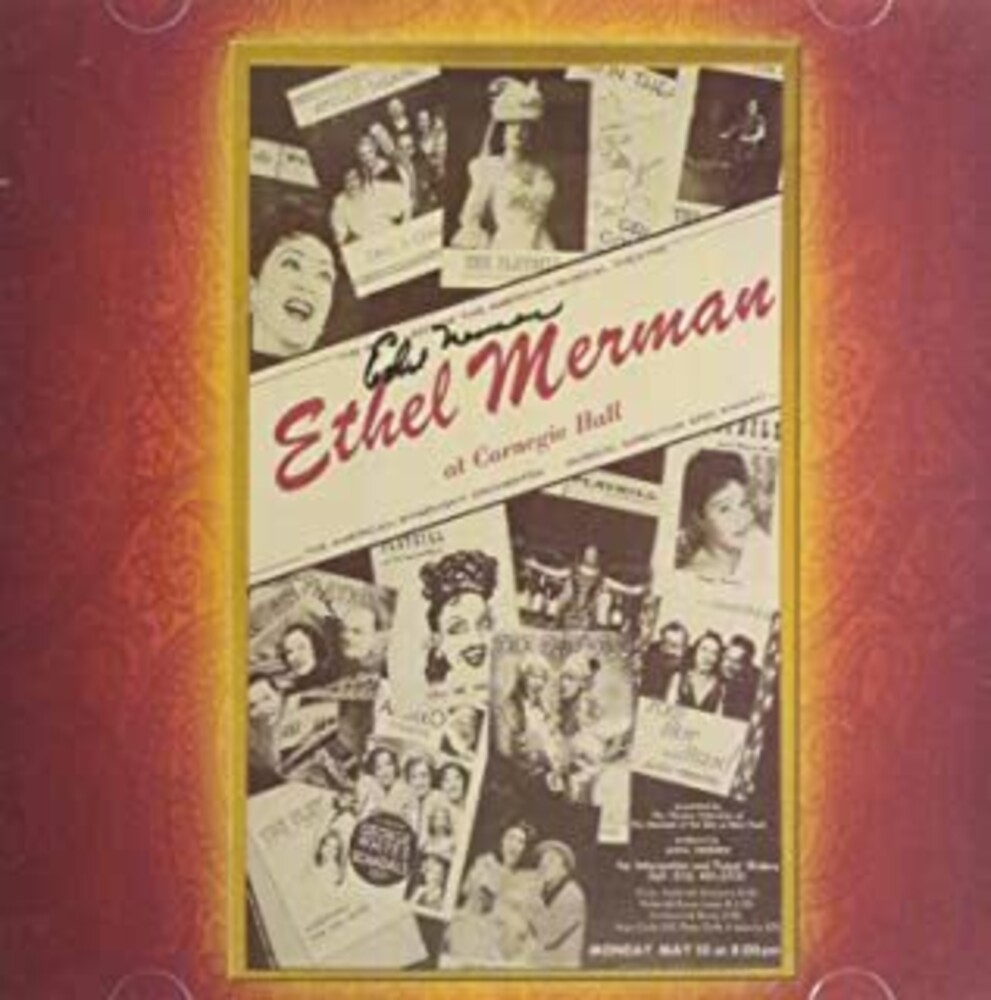 Ethel Merman - MERMAN AT CARNEGIE HALL