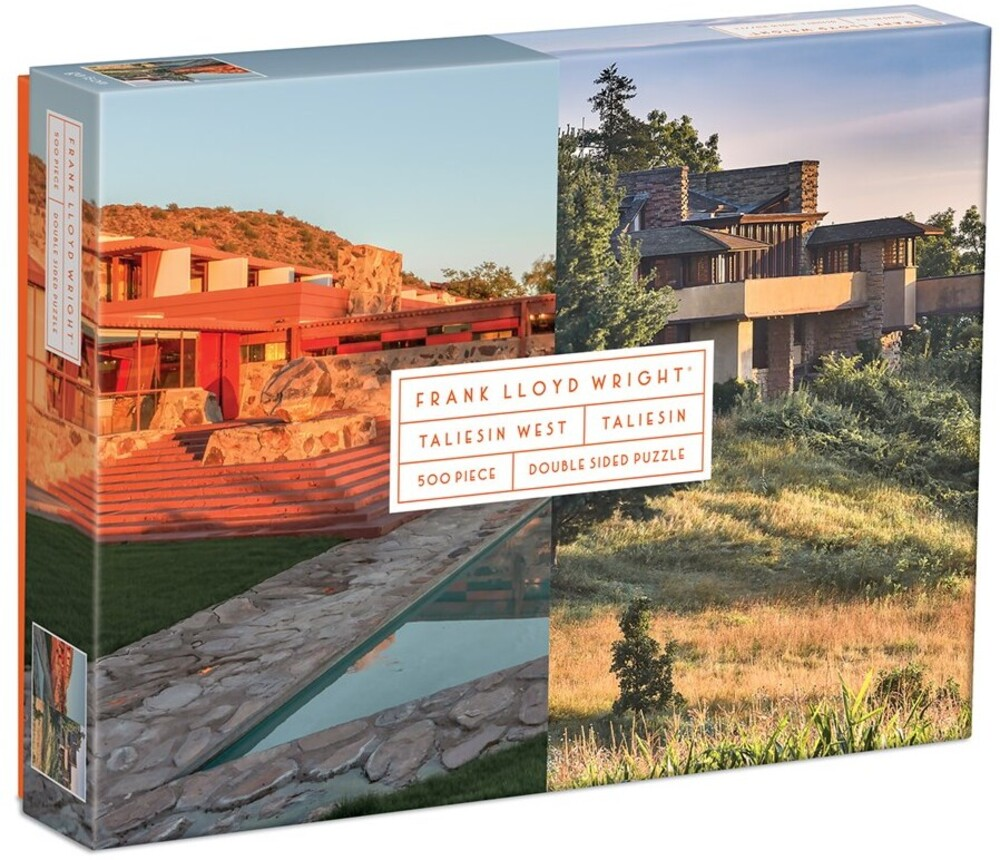 - Frank Lloyd Wright Taliesin and Taliesin West 500 Piece Double-Sided Puzzle