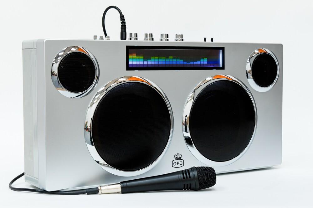 - Gpo Manhattan Bluetooth Speaker 100 Watts Silver