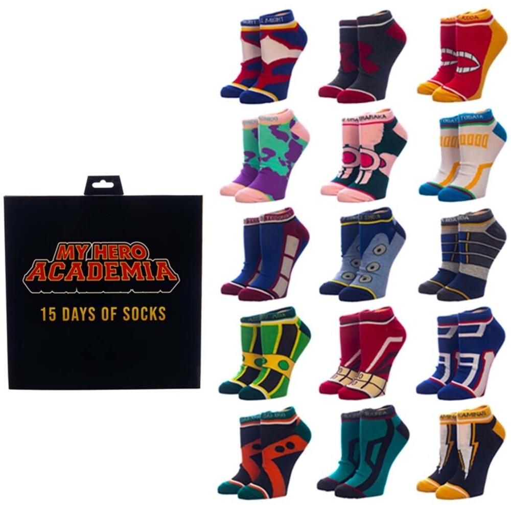 - My Hero Academia 15 Pk Ankle Sock Set Womens 5-10