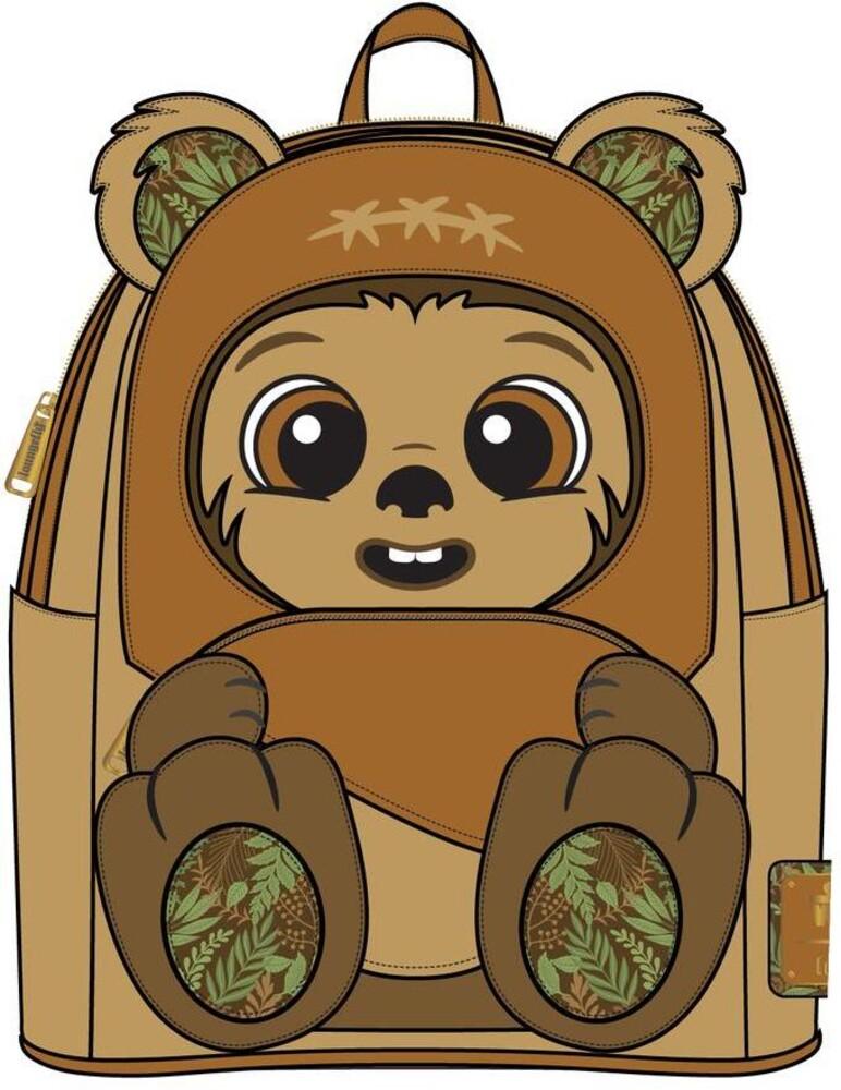 Loungefly Star Wars: - Wicket Footsie Cosplay Mini Backpack (Back)