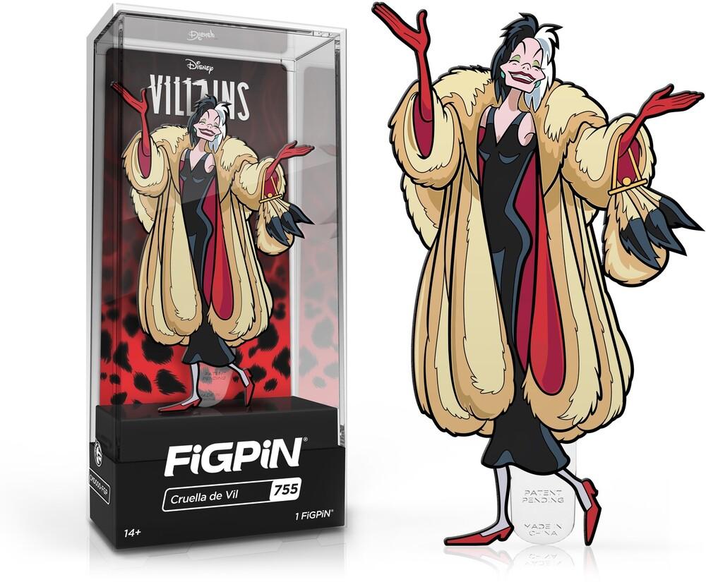 Figpin Disney Villains Cruella De Vil #755 - Figpin Disney Villains Cruella De Vil #755 (Clcb)