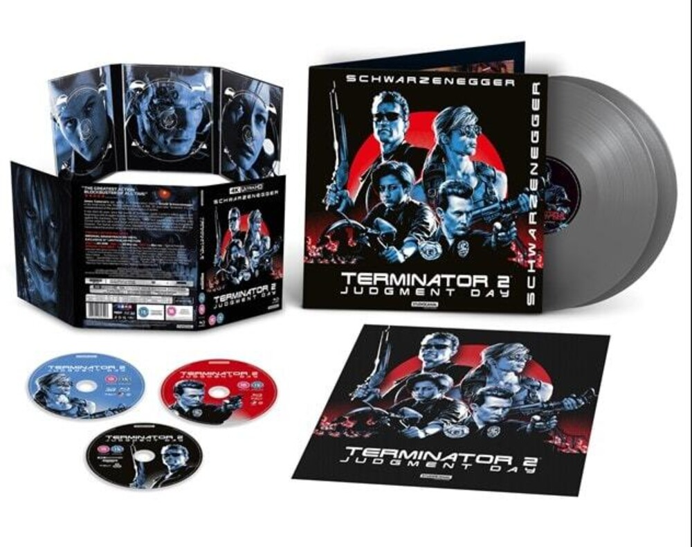 Terminator 2: Judgment Day - 30th Anniversary - Terminator 2: Judgment Day-30th Anniversary [Limited Edition Set Includes 4K UHD, Blu-Ray, 3D Blu-Ray & 2LP Grey Colored Vinyl S