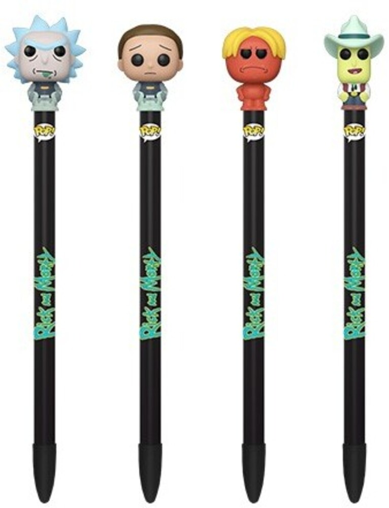 Funko Pen Toppers: - FUNKO PEN TOPPERS: Rick & Morty (ONE Random Pen Topper Per Purchase)