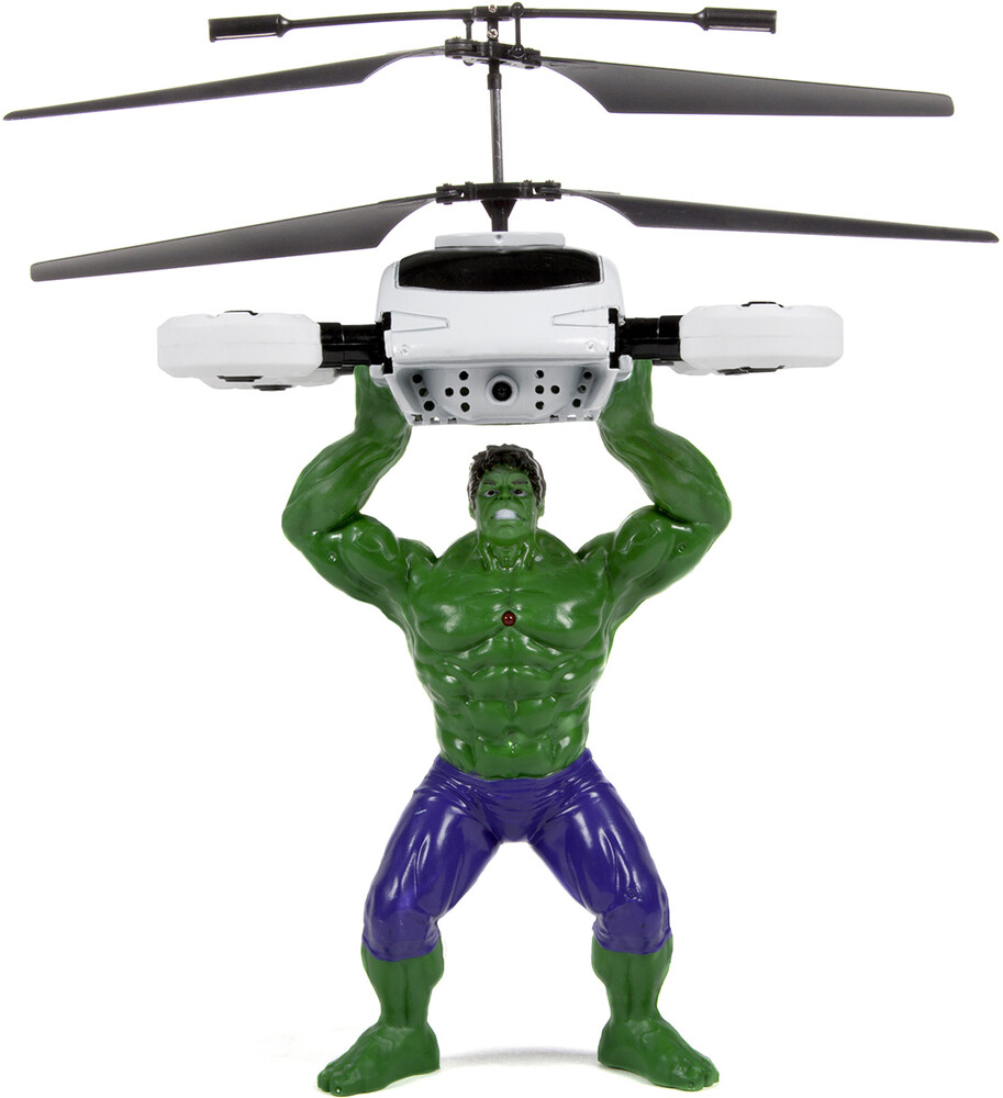 Rc Figures - Marvel Avengers Hulk Flying Figure IR Helicopter (Marvel, Avengers, Hulk)