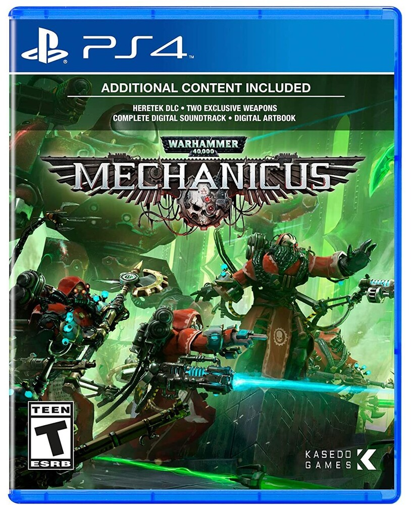 - Warhammer 40K: Mechanicus for PlayStation 4