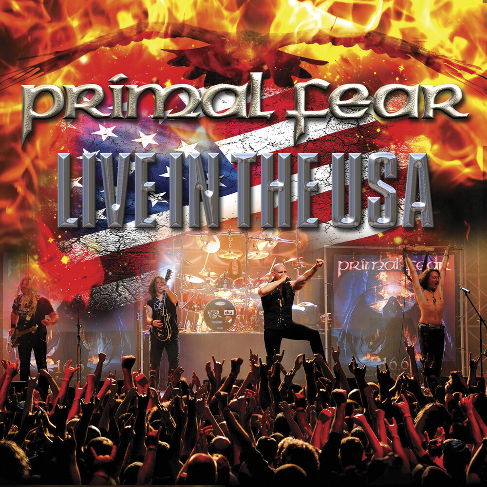 Primal Fear - Live In The USA [Limited Edition White/Blue/Red Marble LP]