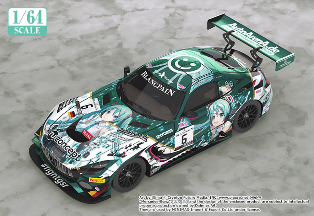 - Good Smile Company - Character Vocal Series 01: Hatsune Miku - 1/64 #6Mercedes-AMG Team Black Falcon 2019 SPA24H Version