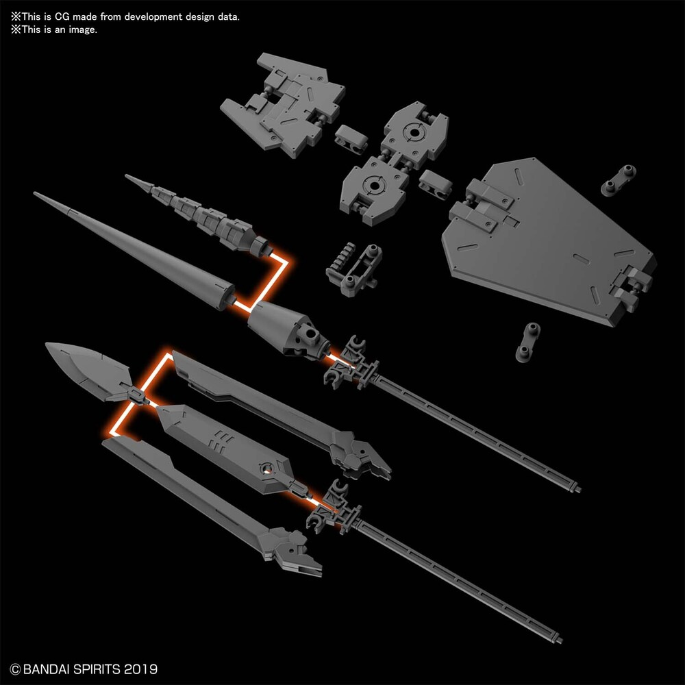 Bandai Hobby - Bandai Hobby - 30 Minute Missions - #09 30MM 1/144 Option Parts Set 3,Bandai Spirits 30 MM