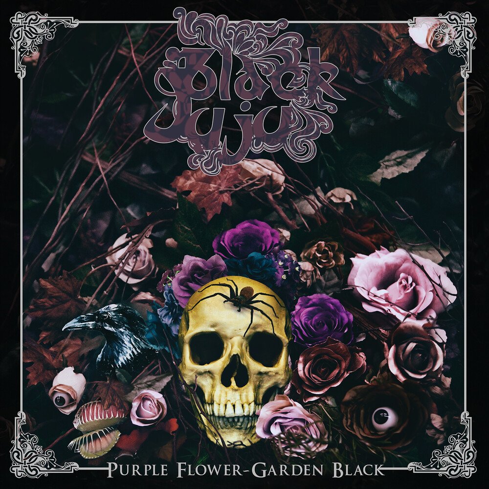 Black Juju - Purple Flower Garden Black