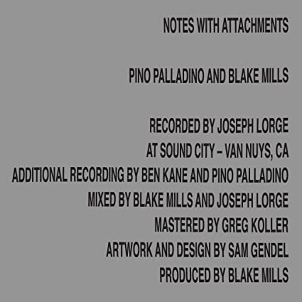 Pino Palladino/Blake Mills - Notes With Attachments