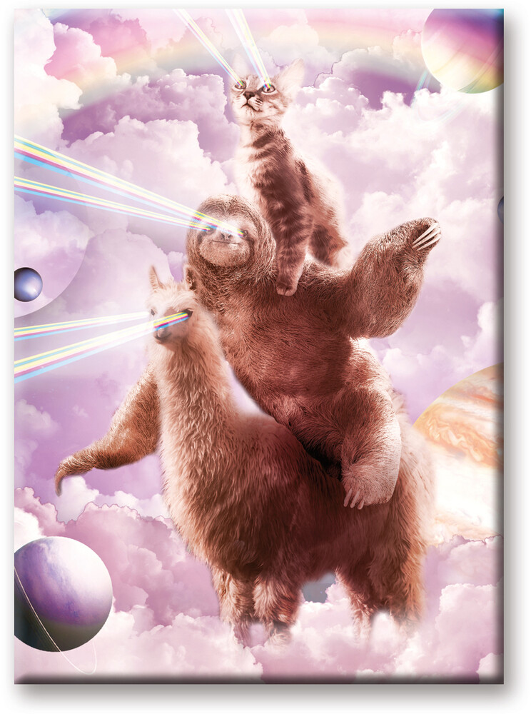 Random Galaxy Cat Sloth 2.5 X 3.5 Flat Magnet - Random Galaxy Cat Sloth 2.5 x 3.5 Flat Magnet