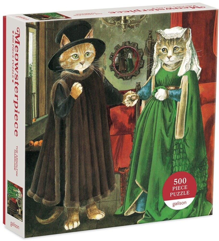 - The Arnolfini Marriage Meowsterpiece of Western Art 500 Piece Puzzle