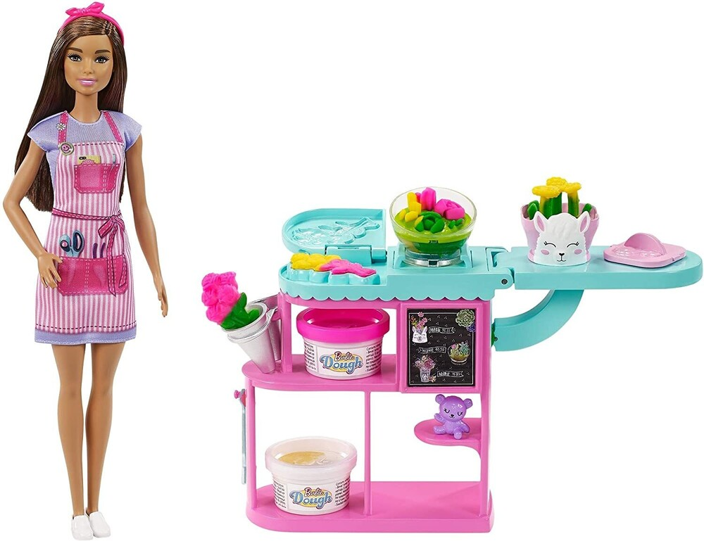 - Mattel - Barbie Dough Florist Playset, Brunette